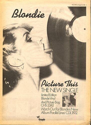 Blondie record release flyer