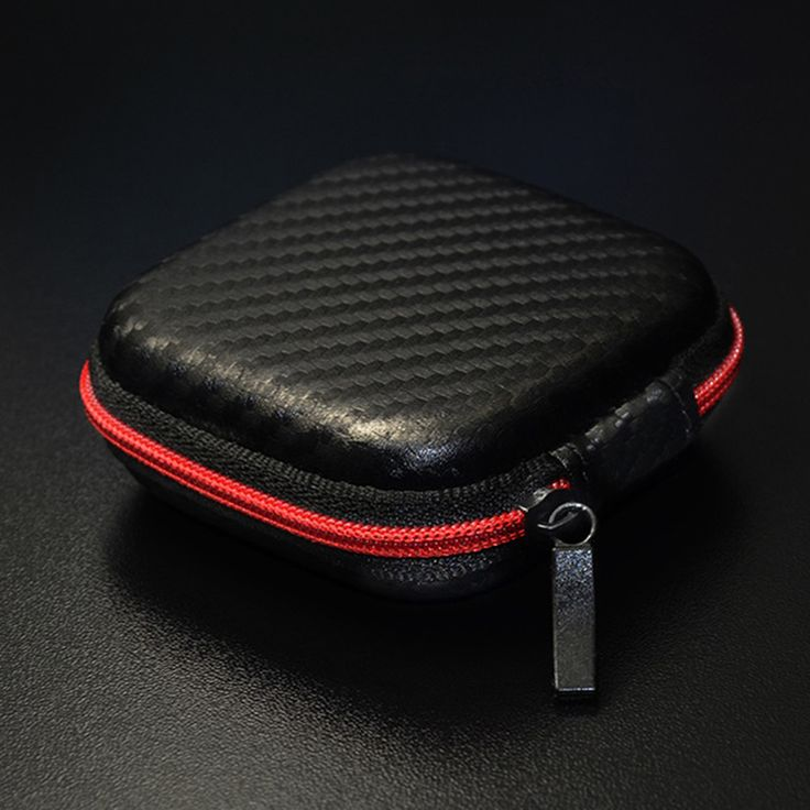 >> Click to Buy << Headphones Box Earphone Earbuds Hard Case Trinketry Storage Carrying Pouch Bag SD Card Hold PU Charms Boxs Carbon Fiber Zipper #Affiliate