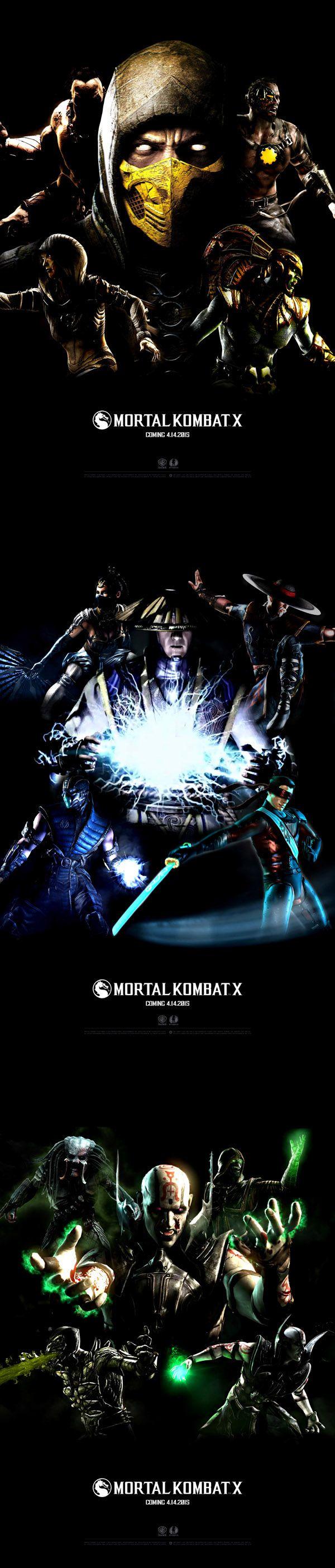 Mortal Kombat X (MKX) - Posters // FanART on Behance