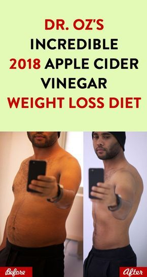 Dr. Oz's Incredible 2018 Apple Cider Vinegar Weight Loss Diet