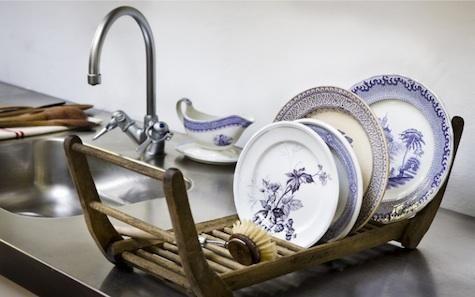 vintage scandinavian dish rack