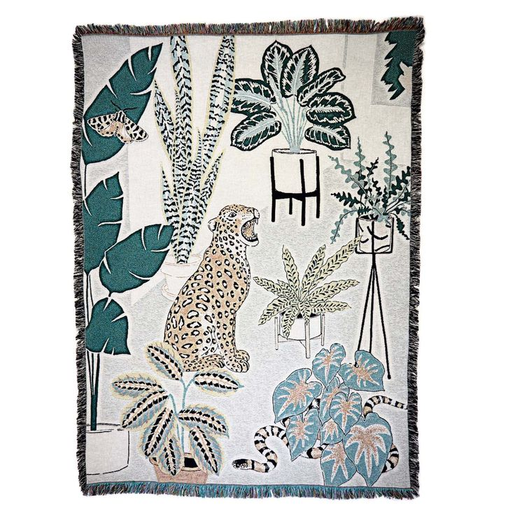 House plants throw by Jacqueline Colley