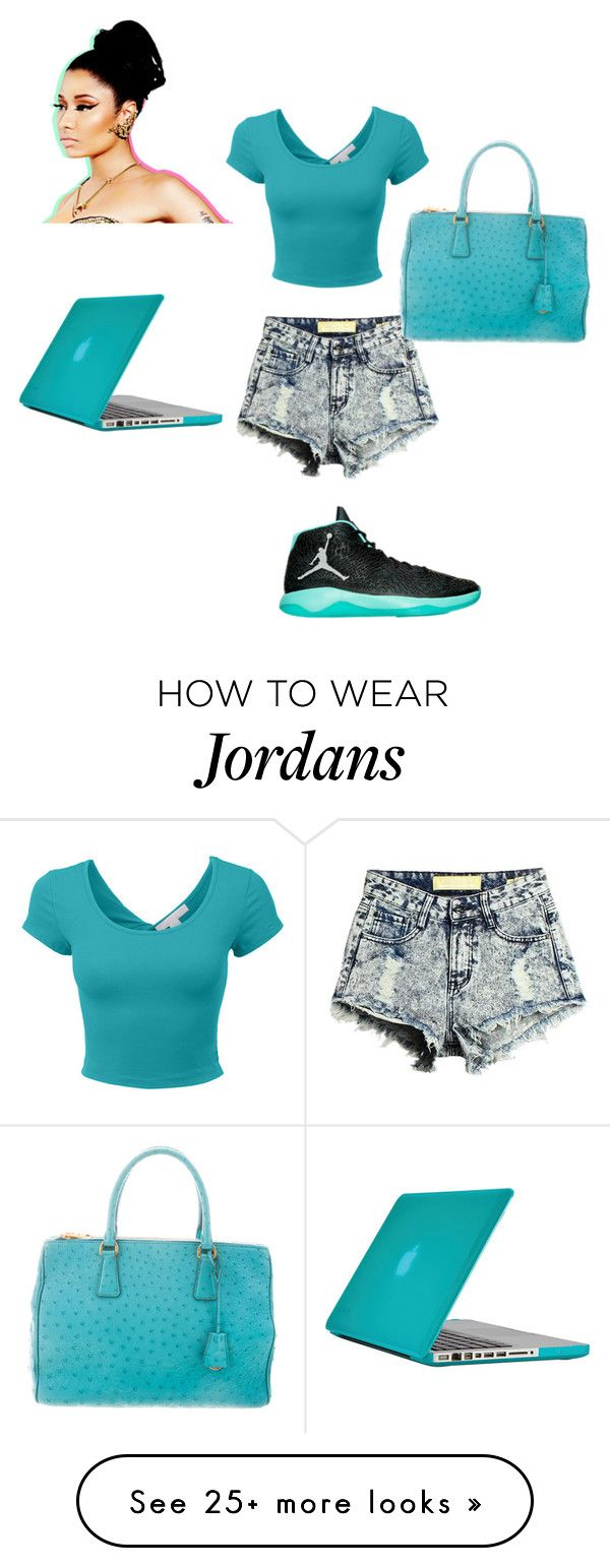 """""""turquoise nation"""" by youngsavagesyd on Polyvore featuring Nicki Minaj, NIKE, Prada and Speck"""