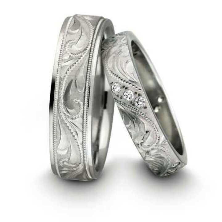 His And Hers Wedding Bands Rings Pinterest Bandatching