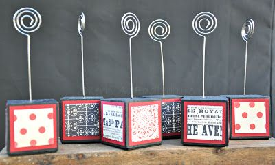 """Photo Holder, Note Holder, Altered Block, Using Scrap DSP, Love Letter DSP, Craft Show Idea, 2""""x2""""x2"""" wood cubes"""