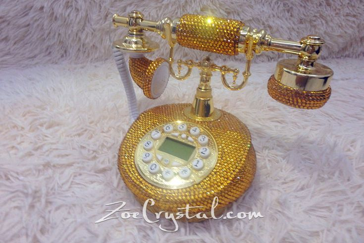 New Color** GOLD CLASSIC Bling and Sparkly PHONE to ensure a good mood when making / receiving a call