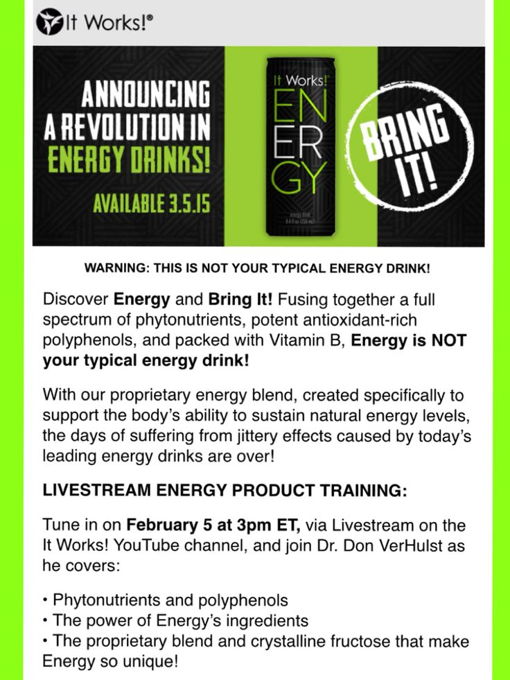It Works! Globals newest product, ENERGY! It's an all natural energy drink that doesn't make you jittery! We got to try this at Conference and it tastes delicious! Get yours at www.ArkansasWrapStar.com on or after 3/5/15