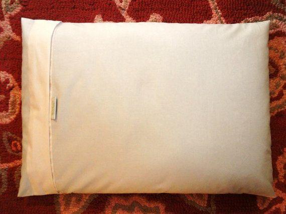 20X26 Organic Cotton Buckwheat Hull Pillow w 8lbs of Buckwheat Hulls and Optional Custom Cover