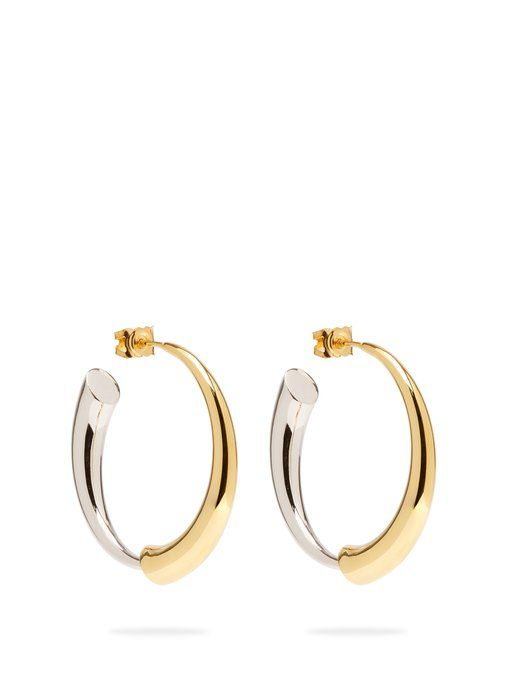 b0b79ff9846691 Gia 18kt gold and sterling silver hoop earrings | Charlotte Chesnais ...