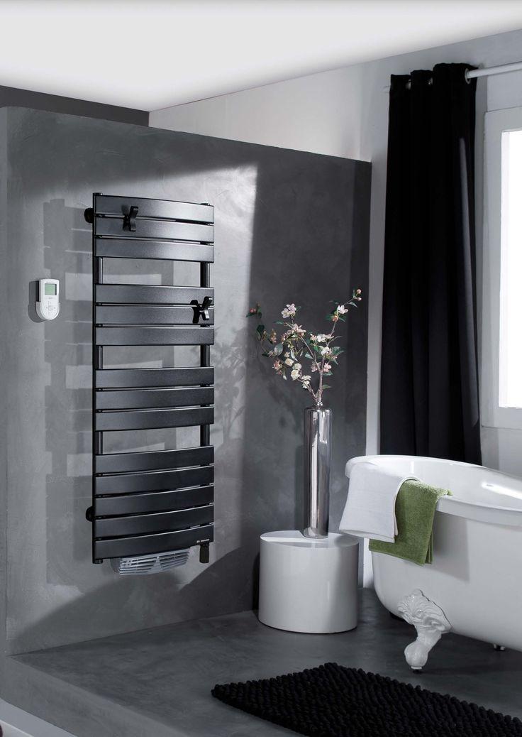 1000 id es sur le th me radiateur salle de bain sur pinterest s che serviet - Seche serviette noir electrique ...