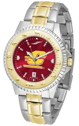 Central Michigan Chippewas Competitor AnoChrome Two Tone Men's Watch