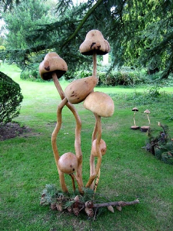 magic mushrooms: Magic Mushrooms, Lawn Ornaments, Fungi Art, Garden Art, Yard Art, Sculpture Gardens, Gardens Art, Mushrooms Sculpture, Gourds Art
