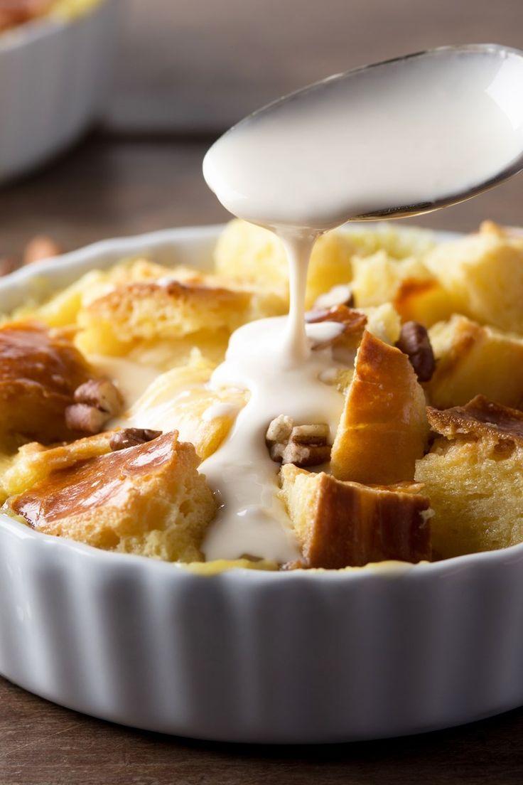 Grandma's Apple Bread Pudding with Vanilla Sauce