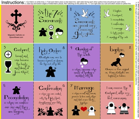 The 7 Sacraments Catholic quiet book - for the littlest Catholics...