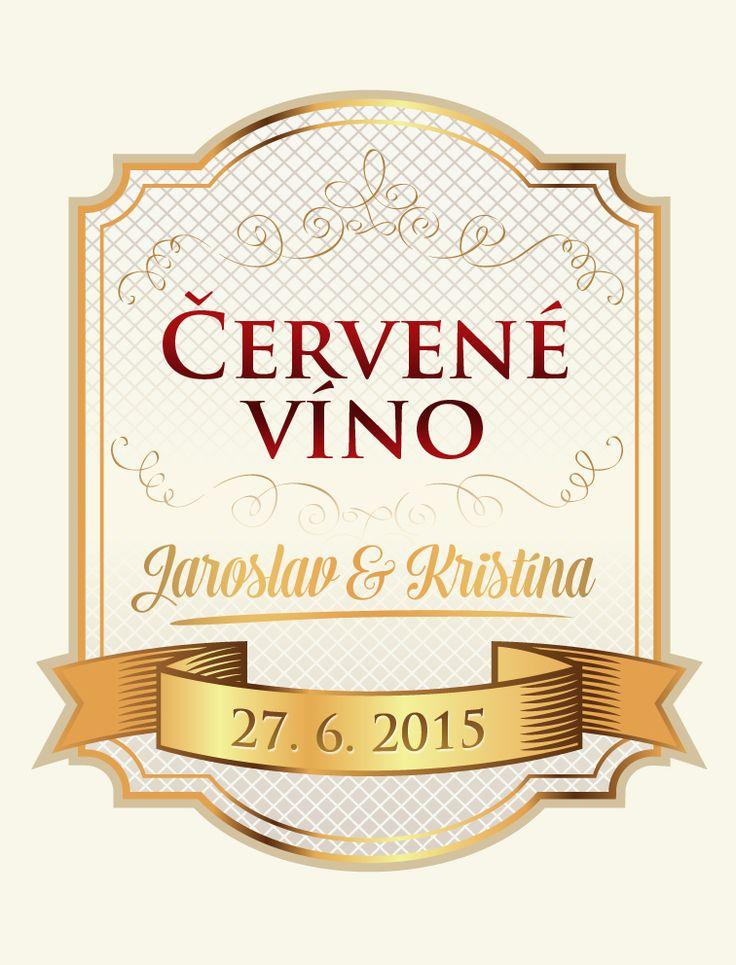 Etiketa - svadobné vínko