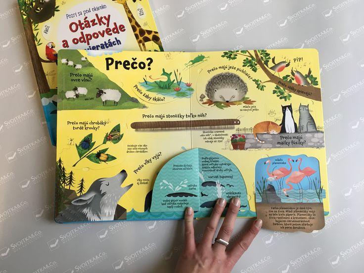 Nájdite s touto encyklopedickou knižkou pre deti s vyše 60 otváracími okienkami odpovede na najčastejšie otázky týkajúce sa zvierat a ich života. #kniha #okienka #encyklopedie #usborne #deti