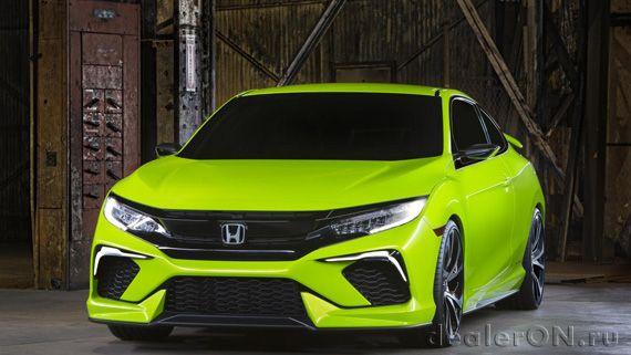 Хэтчбек Honda Civic 2016 / Хонда Сивик 2016 – вид спереди под углом