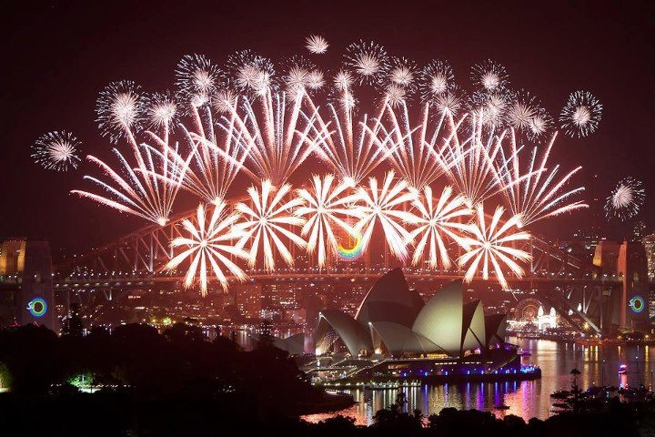 Sydney Harbour Bridge 2013 Fireworks New Years Eve Australia