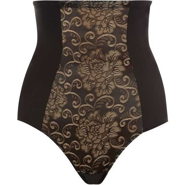 Aubade Floral Lace High Waisted Brief ($87) ❤ liked on Polyvore featuring intimates, aubade, vintage inspired lingerie, vintage style lingerie, aubade lingerie and floral lingerie
