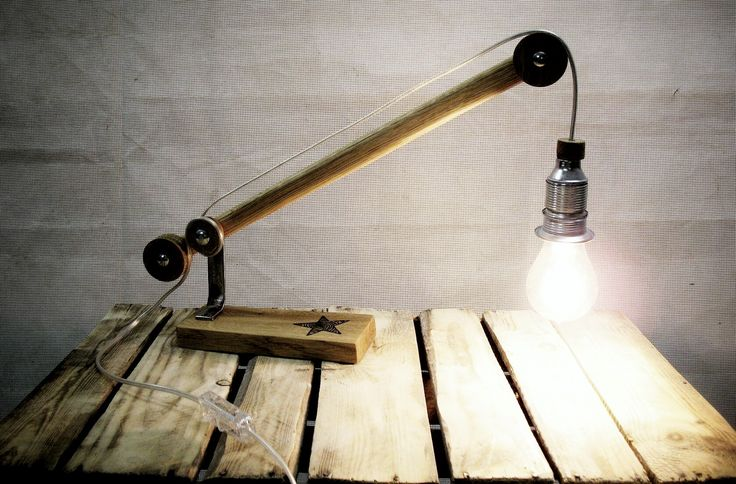 Mini-Lift Lamp Oak&Steel