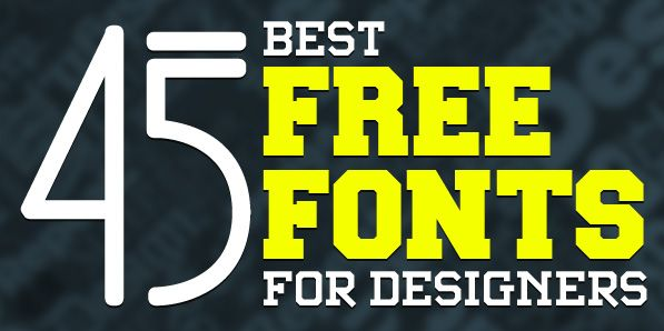 45 Best Free Fonts for Designers   Fonts   Graphic Design Junction ...