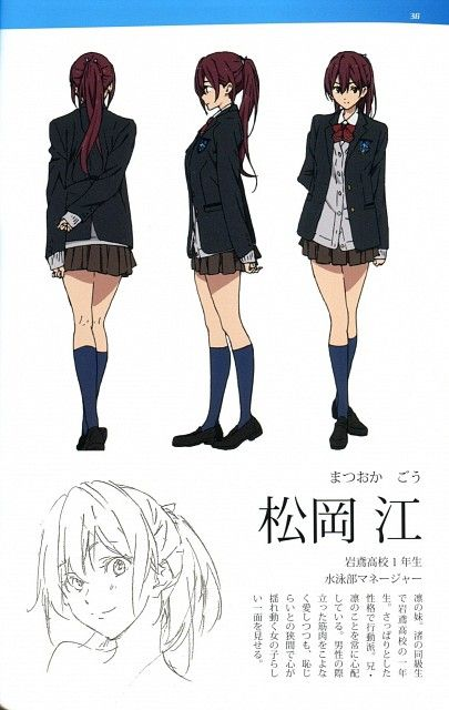 Kyoto Animation, Free!, Free! TV Animation Guide Book, Gou Matsuoka, Character Sheet