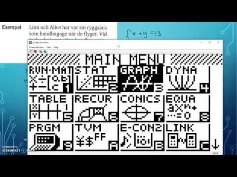 Matematik 5000 Ma 2c   Kapitel 1   Linjära Ekvationssystem   Grafisk lös...