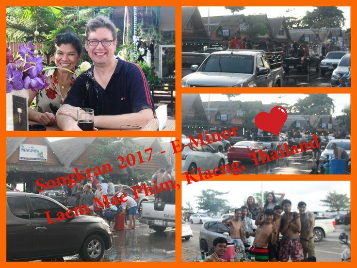 Wet and happy days during Songkran 2017 at E-Minor, Laem Mae Phim Beach, Klang, Thailand