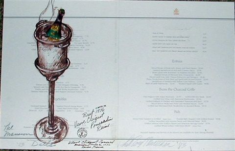 Champagne Bucket with Verve Clicquot, The Mansion, Dallas by LeRoy Neiman