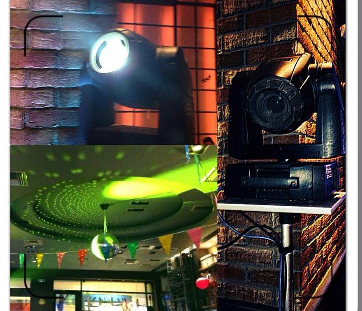 Disco Latin Party Light Show Setup