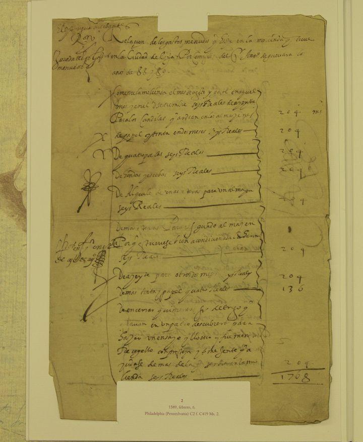 Fragmento del documento escrito por Cervantes