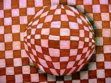 Artful Artsy Amy: Lesson Plan: Op Art Spheres (the easy way)