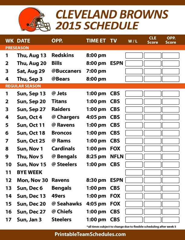 It is a picture of Slobbery Cleveland Browns Schedule 2020 Printable