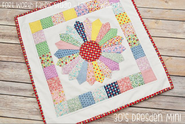 1930s Dresden Plate Mini Quilt | FaveQuilts.com