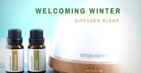 Winter is just a few weeks away and feeling the cold wind is a pleasant sensation. We at Simply Earth love this season and we're starting it with a little welcome party in a form of a diffuser blend!
