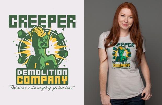 Creeper Demolition Company T-Shirt http://tshirtonomy.com/minecraft-t-shirts