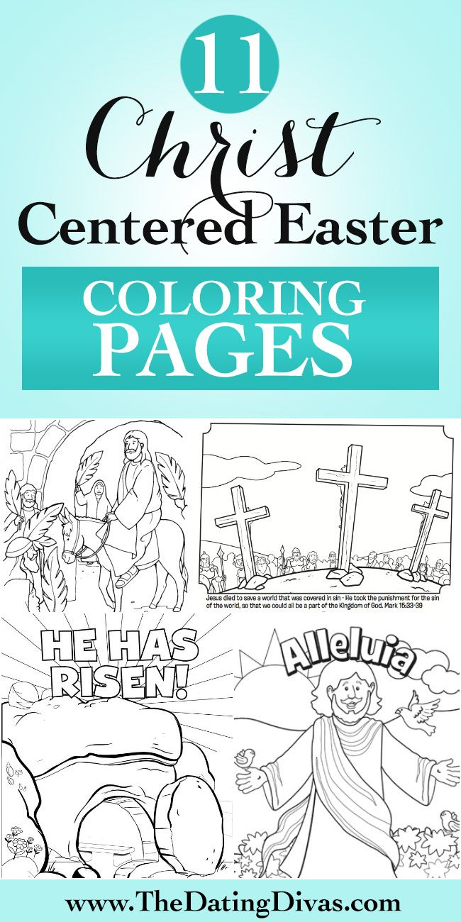 Christ Centered Easter Coloring Pages!!
