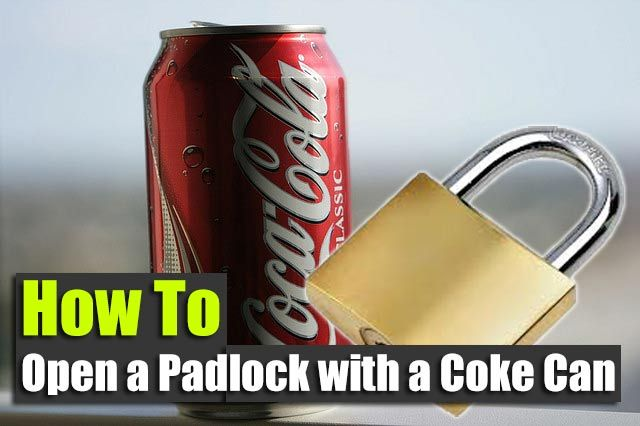 How to Open a Padlock with a Coke Can - SHTF, Emergency Preparedness, Survival…