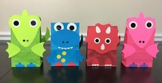 Dinosaur Party Favor Bags (sets of 4) - also makes a cute party decoration for dinosaur themed party!