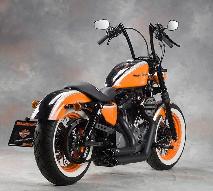 Custom Orange And White Paint Job Motorcycles