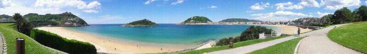 Ondarreta and La Concha Beach. San Sebastian (Donostia). Euskadi. Spain.