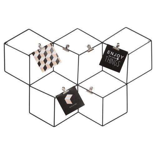 p le m le photo en m tal noir graphique maisons du monde. Black Bedroom Furniture Sets. Home Design Ideas