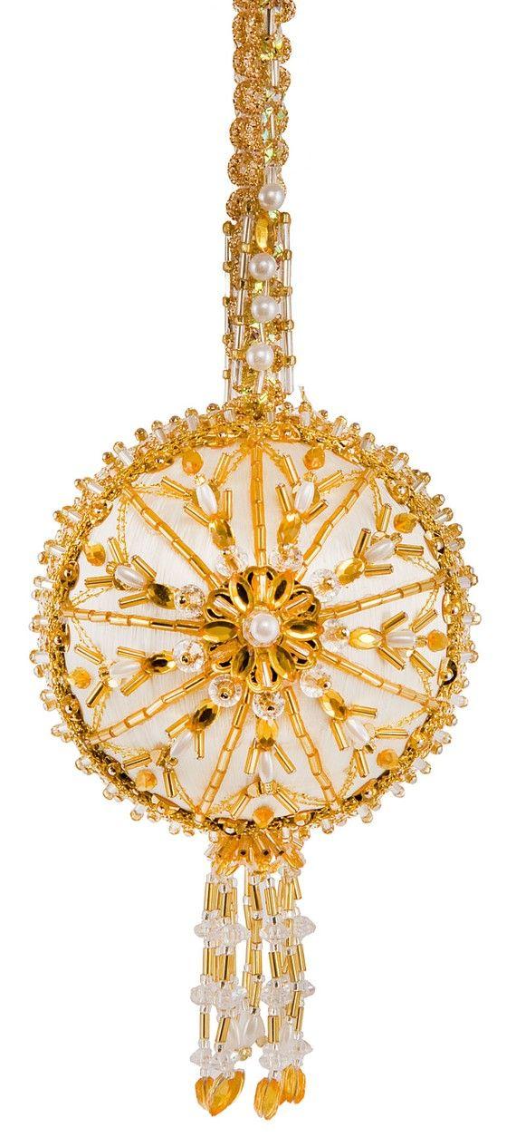The Cracker Box Inc Beaded Ornament Kit Gold Dust on Etsy, $38.75