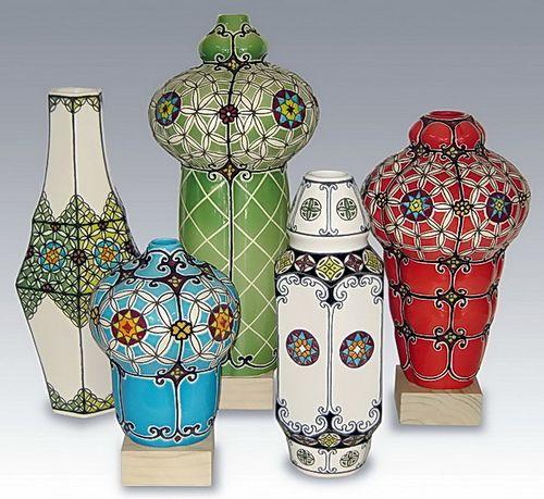 """Moroccon Lantern "" ceramic vases by anczelowitz, via Flickr"