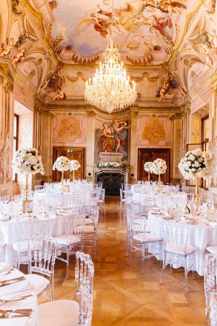Elegant Hetzendorf Castle Ballroom Reception | TONY GIGOV PHOTOGRAPHY | A VERY BELOVED WEDDING | DOLL'S BLUMEN | MIETMÖBEL FÖHR GESELL |http://knot.ly/6493BI8e7