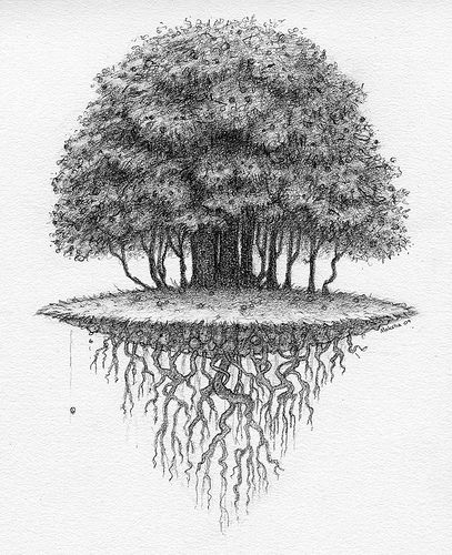 tree drawing with roots - Google Search
