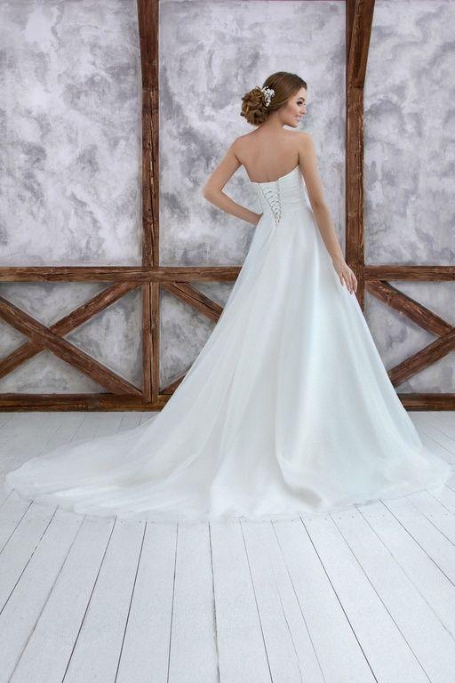 """Коллекция """"ODRI Love Voyage"""" - Мадрид, свадебное платье А силуэта, открытое свадебное платье, шлейф, wedding dress, wedding"""