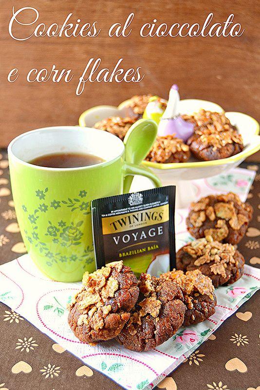 Cookies al cioccolato con Corn flakes