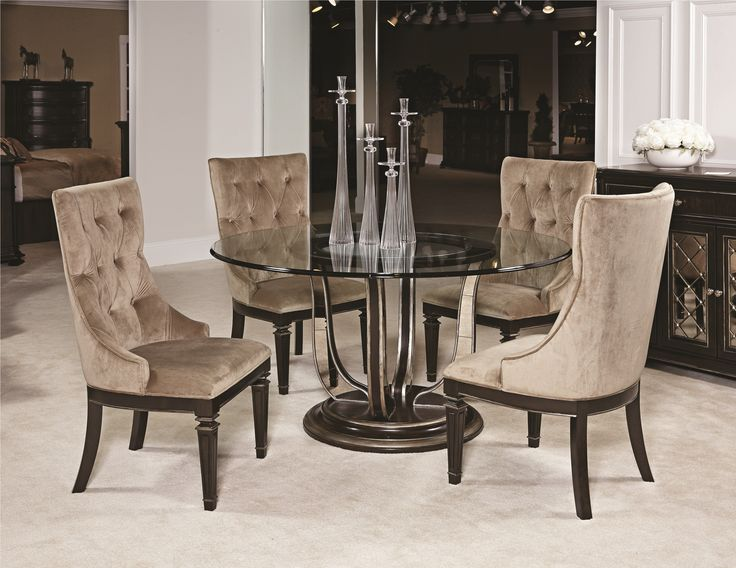 round dining tables glass tables upholstered dining chairs table and