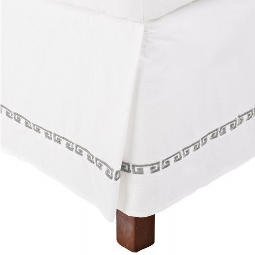 Complete your Kendell collection with this stylish and well crafted bedskirt that brings the Mediterranean to your bedroom. Made of 100% Cotton, this bed skirt is both durable and fashionable featurin                                                                                                                                                                                 More